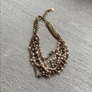 Stella and Dot bead/ gold necklace